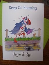 Compost Heap Keep on Running Puffin Bird Greetings Card Blank Plain Envelope UK