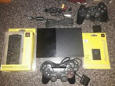 SONY PLAYSTATION 2 PS2 SLIM SCPH-90001 TESTED OEM 2 Controllers Memory Card