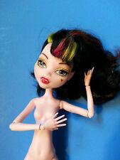 Monster High Draculaura Vampire Art Class Doll Pink Yellow Black Hair - Nude