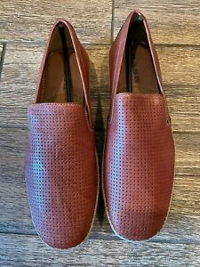 Trask men's driving shoe Dalton cognac 9.5 9 1/2 worn twice slip-on moccasin
