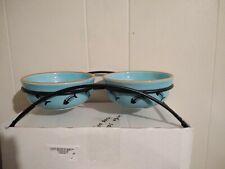 Pet Double Bowl Food Water Dish Feeder Puppy Feeding Holder Ceramic Cat Drinking