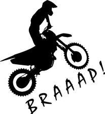 Dirt bike rider BRAAAP! vinyl decal sticker honda kawaski yamaha suzuki ktm