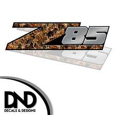 Z85 Decals 2 Pk Sticker for Chevy Silverado Sierra truck Blaze Buck - D&8 8in