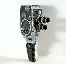 Paillard Bolex Vintage B8 8mm Film Movie Camera Twin Lens With Hand Grip