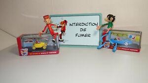 Spirou, Gaston Lagaffe, figurines et voiture