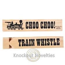 "Dozen 5.75"" Wooden Train Whistles Favor Party Gift Bag Fillers Prize Assortment"