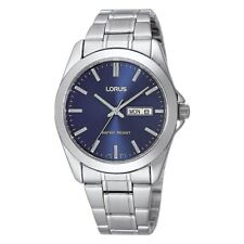 Lorus Classic Blue Dial Stainless Steel Bracelet Gents Watch Day & Date RJ603AX9
