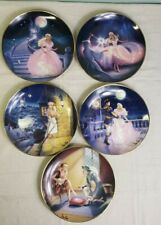 Franklin Mint - 5 Beautiful Franklin Mint plates of porcelain - Theme Cinderella