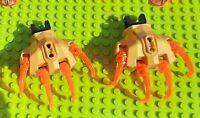 USED LEGO 2x Hand 92233 Pearl Gold 2x 90609 Black 8x Claw w/ Clip 92220 T Orange