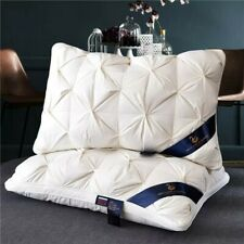"""Goose Down High Quality Queen Size Bread Style 19x30"""" Soft Cotton Bed Pillows"""