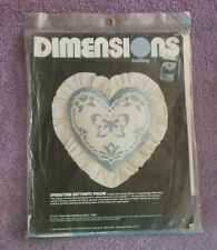 "Dimensions Vintage Twilling Kit Springtime Butterfly Pillow 12"" x 12"""