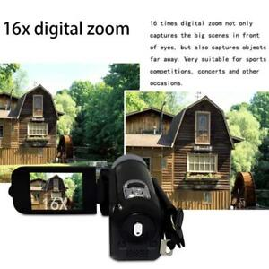 360°Rotation Flip Screen Video Camera Camcorder with Vlog Video AI Tracking