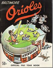 1961 Baltimore Orioles Baseball Yearbook magazine, Hoyt Wilhelm, Brooks Robinson