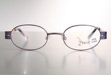 Kids TITEUF Children's Small Size Oval Orange Black Eyeglass Glasses Frames NOS
