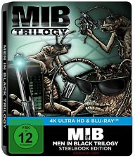 MEN IN BLACK 1-3 TRILOGIE (3 x 4K Ultra HD + 3 Blu-ray Discs) Steelbook NEU+OVP