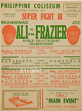 MUHAMMAD ALI v JOE FRAZIER -  RARE VINTAGE BOXING POSTER PRINT - GET YOUR'S NOW