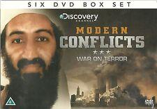 MODERN CONFLICTS WAR ON TERROR - 6 DVD BOX SET, HUNT FOR OSAMA BIN LADEN & MORE