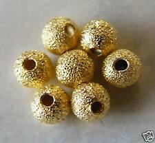 200pcs 4mm Round Brass Stardust Metal Spacers - Bright Gold