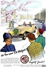 1950 MG TD Midget advert poster / print