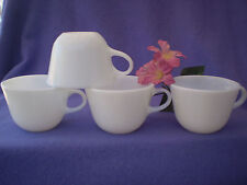 Pyrex Corning Round Bottom Milk Glass White Cups Set Of 4