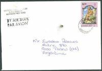 BRITISH MONTSERRAT TO ARGENTINA Air Mail Cover - Rare Destination VF