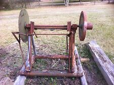"Old Antique Circular Buss Sawmill With 24"" Blade"