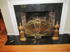 Vintage Brass Fireplace Fire Screen