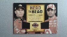 2010 Wheels Main Event McMurray/Montoya Head To Head Hats Silver Insert Card
