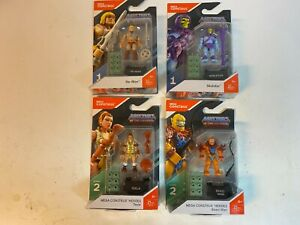Mega Construx Masters of the Universe lot of 4 He-Man Skeletor Teela Beastman