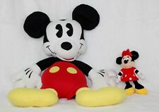 Disney Plush Mickey and Minnie Mouse Lot 2 Large and Small Preowned