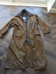 BARBOUR Vintage BURGHLEY COAT Waxed Cotton long Jacket C 38 / 97 cm England Wax