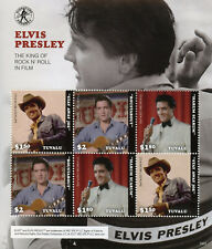 Tuvalu 2018 MNH Elvis Presley in Film 6v M/S Movies Celebrities Music Stamps