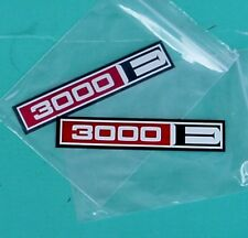 FORD CAPRI MK1, 3000E BADGE INSERTS, NEW GENUINE FORD