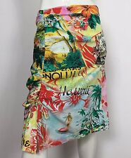 Serena gonna hawaii hawaiana estiva 42 w28 floreale palme usata spacco hot T2131