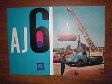 Prospekt Sales Brochure Tatra AJ6 1965 Technische Angaben Kranwaagen автомобиль