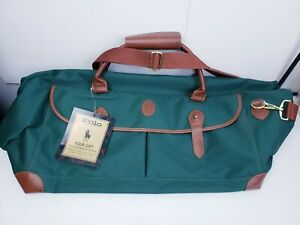 Mens Polo Ralph Lauren Weekender Green Duffel Bag NEW WITH TAG