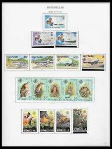 SEYCHELLES 1981-82 ISSUES ON 4 PAGES (LHM/UHM) *CLEAN & FRESH*