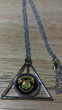 Deathly Hallows Symbol Necklace with Hogwarts School Symbol Harry Potter Inspire