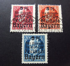 "GERMANIA ,GERMANY ,Old State REICH 1919 BAYERN ""Luigi III OVP"" 3V Cpl SET USED"
