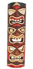 Wandmaske Triple Tiki Hawaii Maske aus Holz Südsee Style 50cm Holzmaske