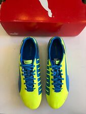 Puma evoSPEED 2.2 FG Soccer Cleats - Yellow-Brilliant Blue - Mens Size US  9.5 9df7bc89f