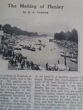 Henley Regatta Rowing Sculling Sculls Leander Rare Old Antique 1909 Article