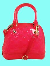 Authentic BETSEY JOHNSON Mini Dome Pink Cross-Body Bag Msrp $78.00