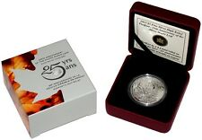 Canada Silver High Relief Piedfort Coin 25th Anniversary of Silver Maple Leaf
