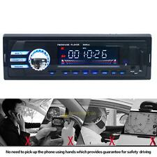 1 DIN Car Head Unit Stereo FM Radio MP3 Audio Player Built-in Bluetooth w/ Mic