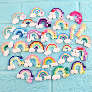 Wholesale Polymer Clay Cabochon Flatback Rainbow Cloud Cartoon DIY Crafts Decor
