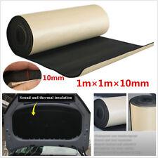 1m*1m*10mm Waterproof Black Autos Wall Panel Acoustic Foam Soundproofing Cotton