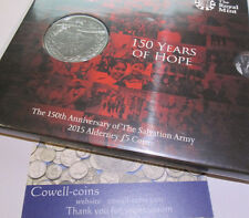 UK 2015 ROYAL MINT ALDERNEY £5 COIN PACK 150 YEARS OF HOPE NEW SEALED BUnc
