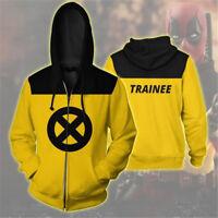 Deadpool 2 X-Men Sweatshirt Cosplay Costume Hoodie Jumper / Zip Up Coat Jacket