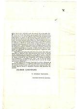 Fornitura Bolgetta Doppia Chiave Scambio Posta Firenze e Monte San Savino 1778